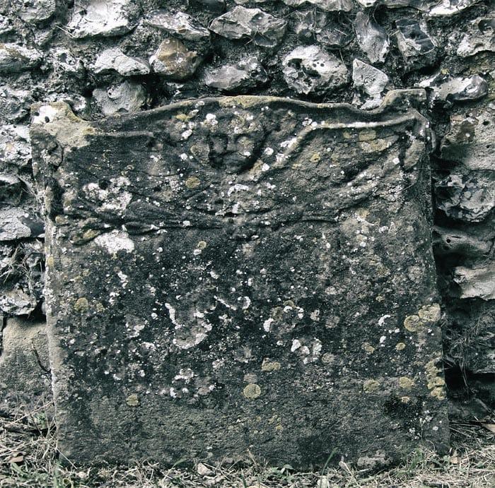 Indistinct grave stone