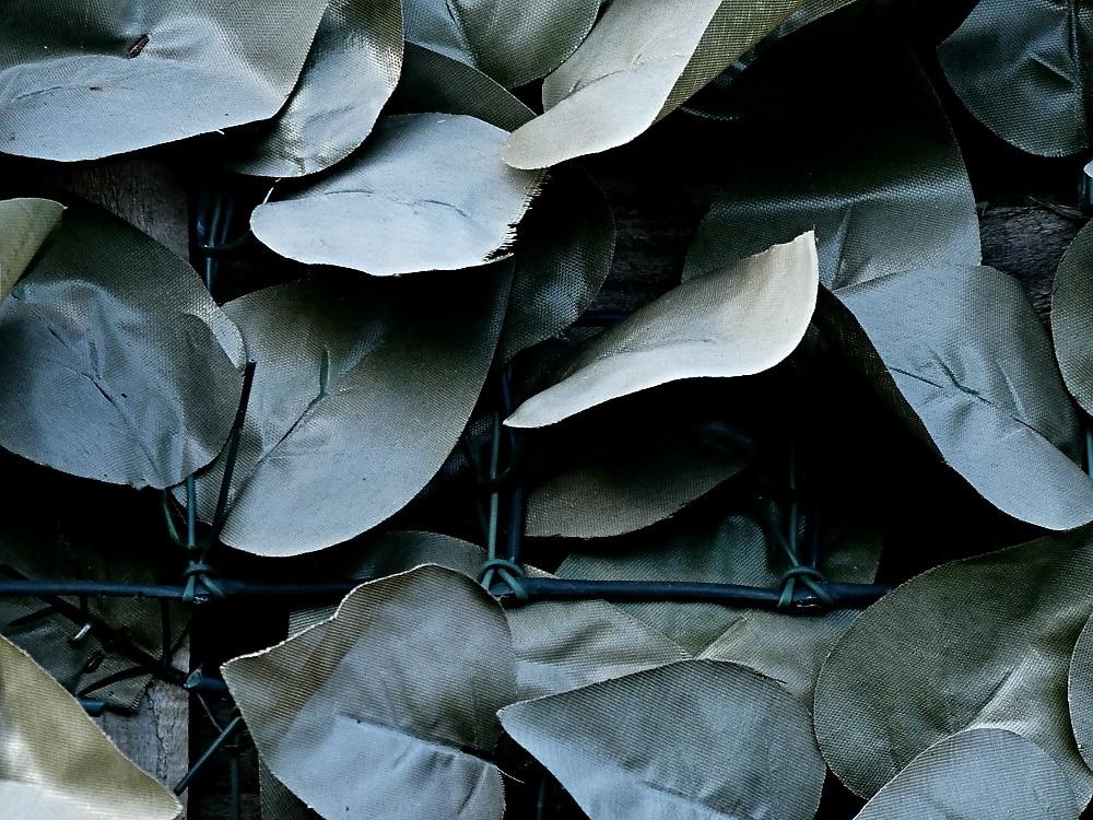 Fake plastic leaves